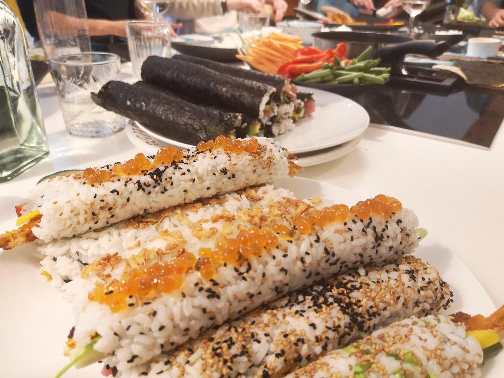 Sushi workshop en eten